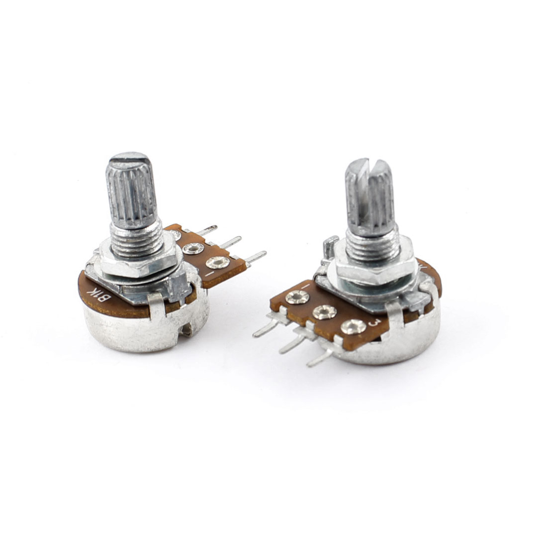 Rotary One Linear Type 3 Terminals Potentiometer 1K Ohm 2 Pcs