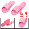 Pair Dark Pink Linen Non Slip Open Toe Slippers US Size 7.5 for Women