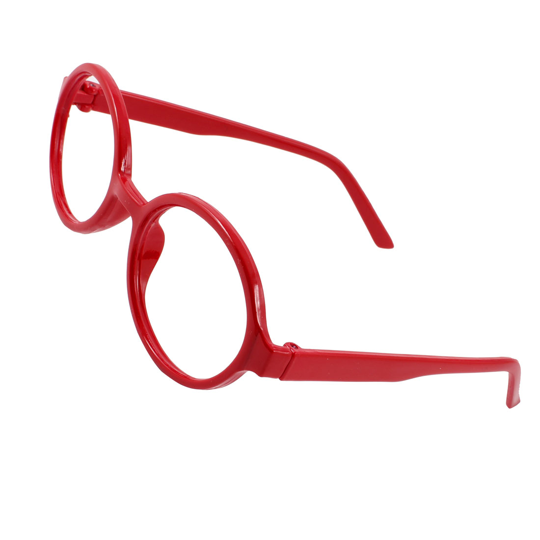 Red Full Rim Oval Shaped Plastic Eyeglasses Spectacles Glasses Frame