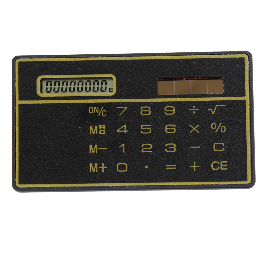 Office School Portable Black Solar Power 8 Digits Plastic Calculator