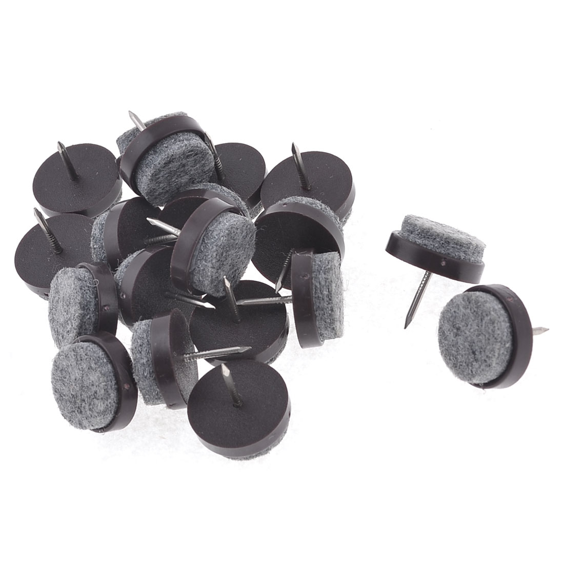 20Pcs Home School Office Round Head Thumb Tacks Push Pins 20mm High Brown