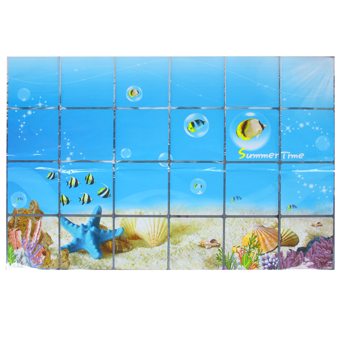 Kitchen Sheet Sky Blue Seabed Print Wall Sticker Decal 90cm x 60cm