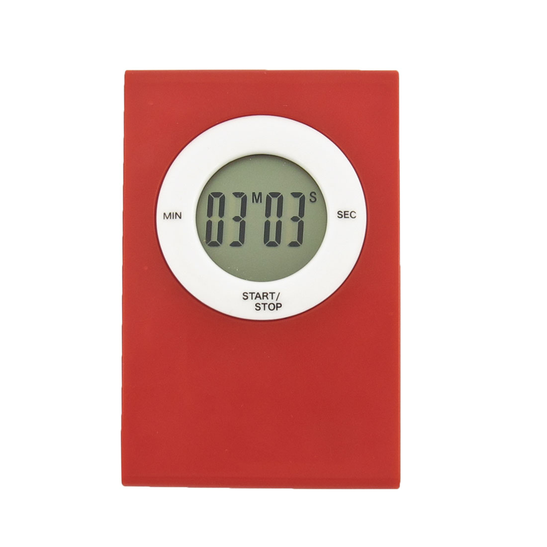 Kitchen Magnetic LCD Display Countdown Alarm Electronic Cooking Timer Red