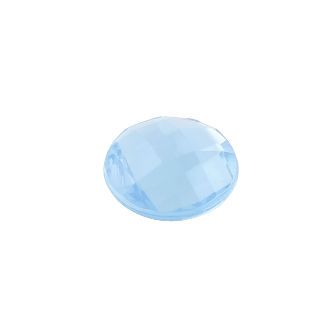 Light Blue Plastic Crystal Round Home Button Sticker for Phone Touch