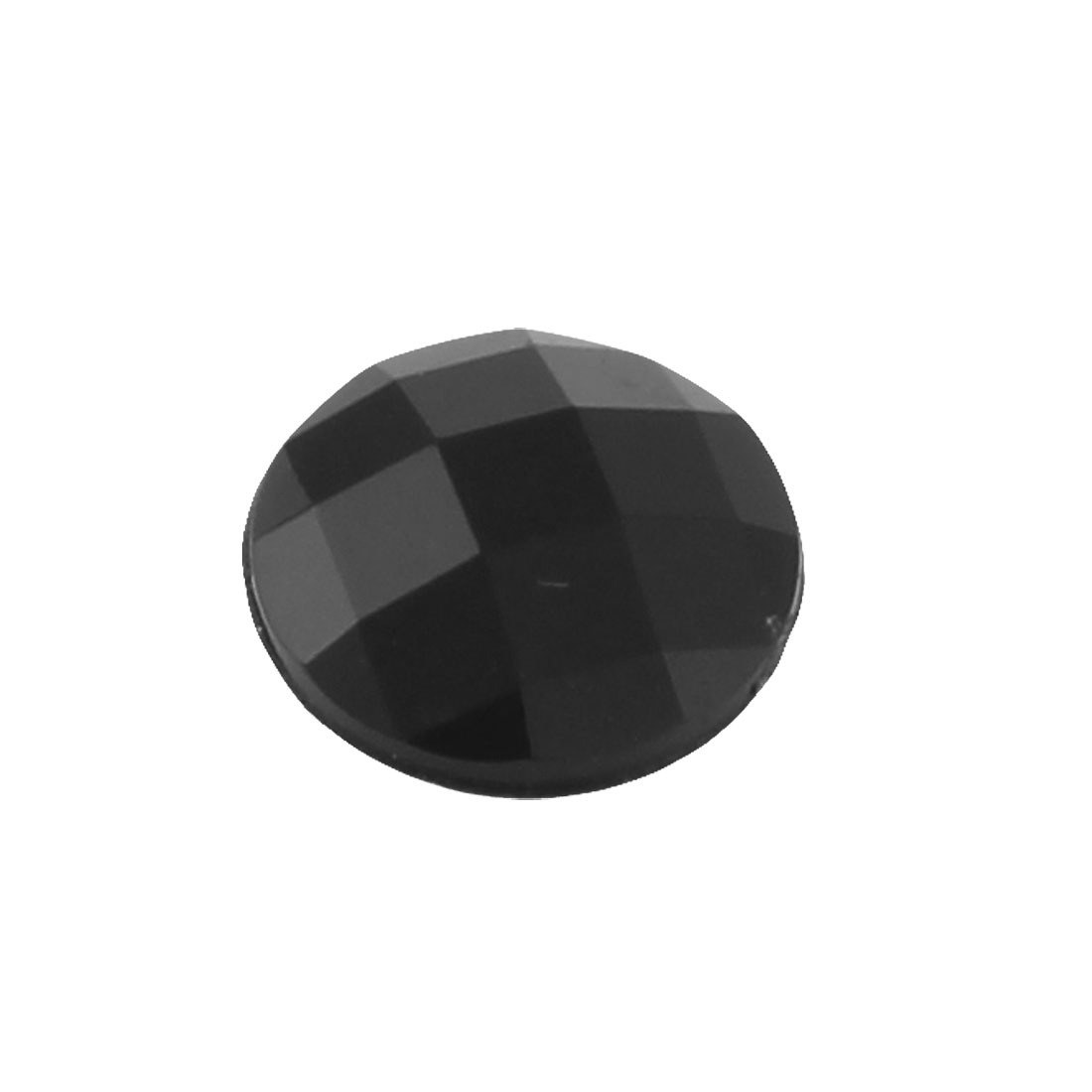 Black Plastic Crystal Round Home Button Sticker for Phone Touch