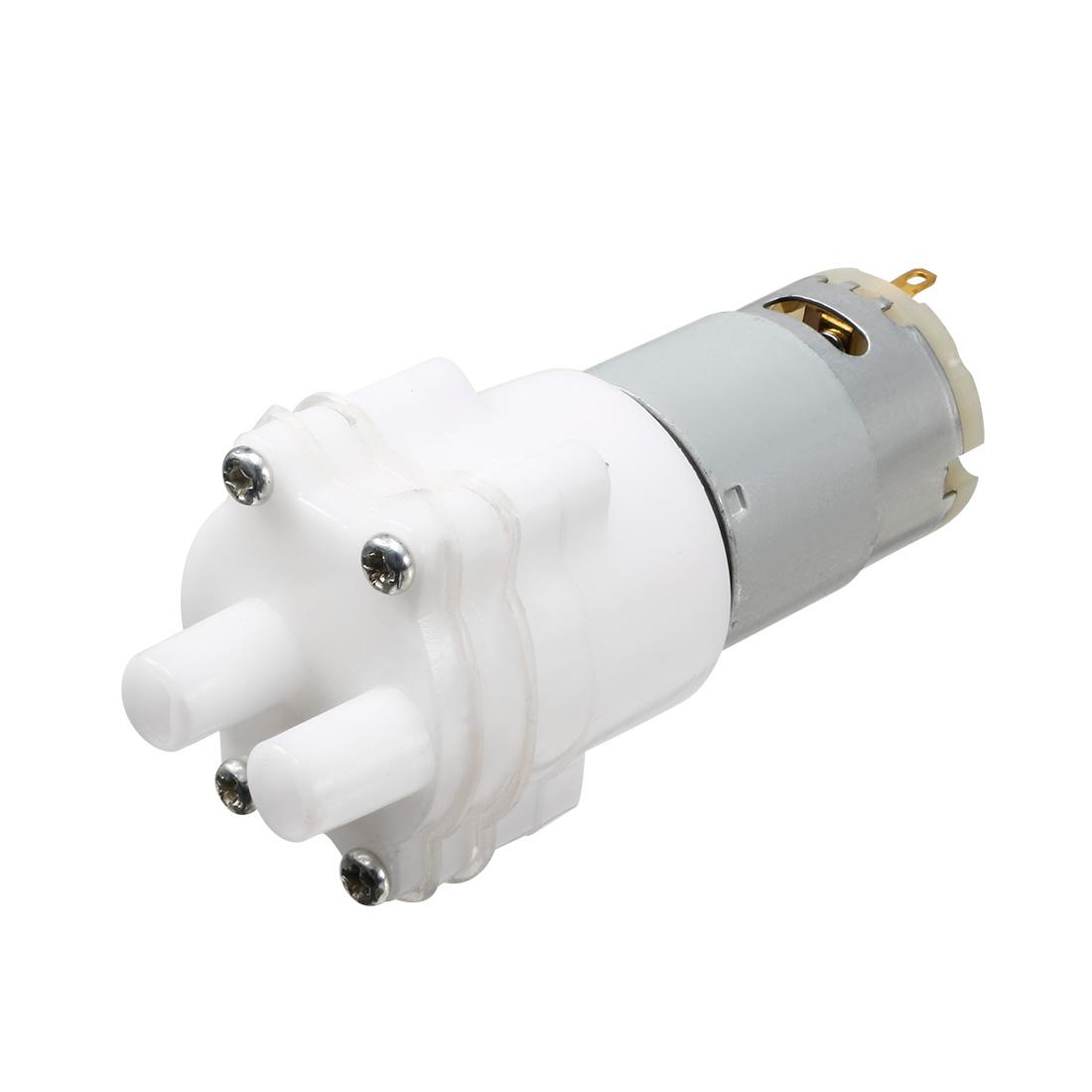 DC 12V 1.5-2 L/Min 2 Terminals Cylindrical Permanent Magnet Pump Motor