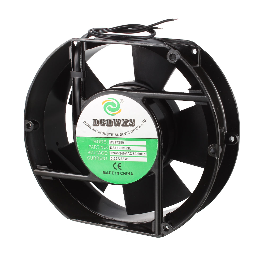 150mm x 150mm Metal Frame Plastic Blade Axial Fan AC 220-240V 38W