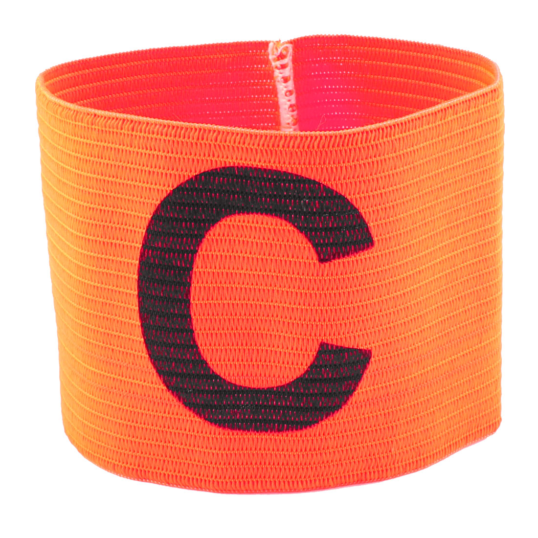 Letter C Printed Football Game Elastic Polyester Kapitnsbinde Orange Red