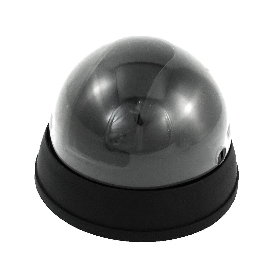 Fake Imitation Surveillance Security Dome Camera w Red Flashing Light LED