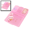 Travel Rabbit Pattern Plastic 4 Compartments Pill Storage Box Pink