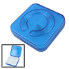 Travel Plastic 4 Compartments Detachable Pill Storage Box Dark Blue