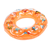 Toddler Baby Body Exercise Fish Pattern Inflatable Swimming Swim Ring Orange