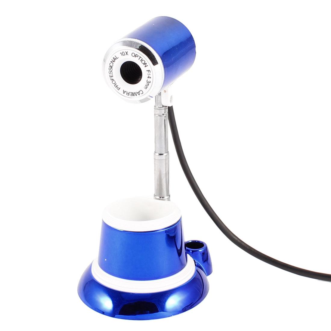 Tower Shape 1004x1004 10 Mega Pixels Camera USB2.0 MIC Webcam Blue for PC