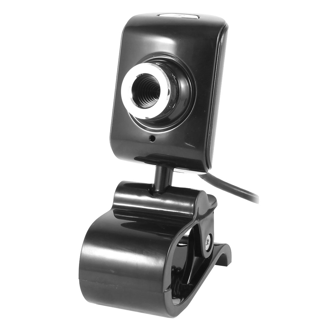 Clip on 1004x1004 1.3 Mega Pixels Camera USB2.0 MIC Webcam Black for PC
