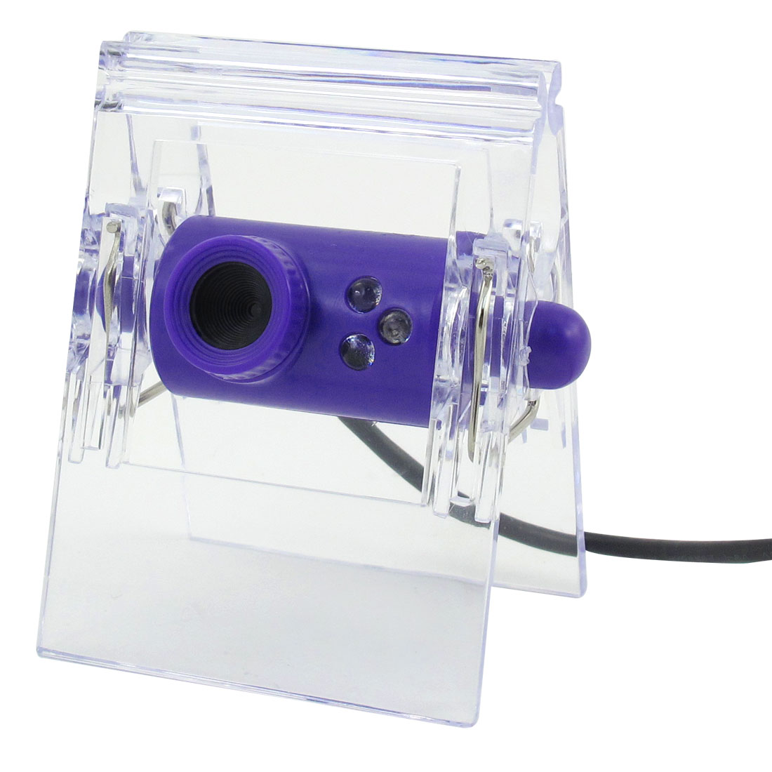 Home Office Notebook Clip Shape 0.3 Mega Pixels USB PC 3 LED Camera Webcam