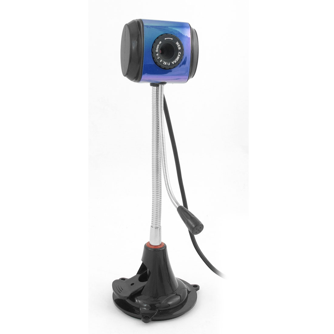 Blue Black Rectangle Desktop 360 Degree Rotatable 10M Pixels USB PC Webcam