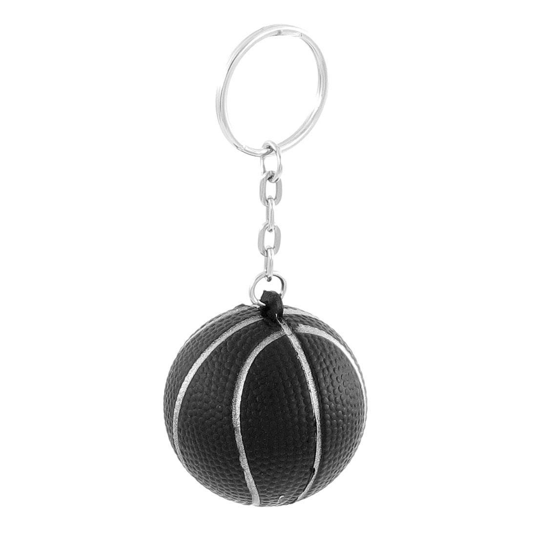Bag Backpack Decor Keyring Metal Split Chain Basketball Dangling Pendant Black