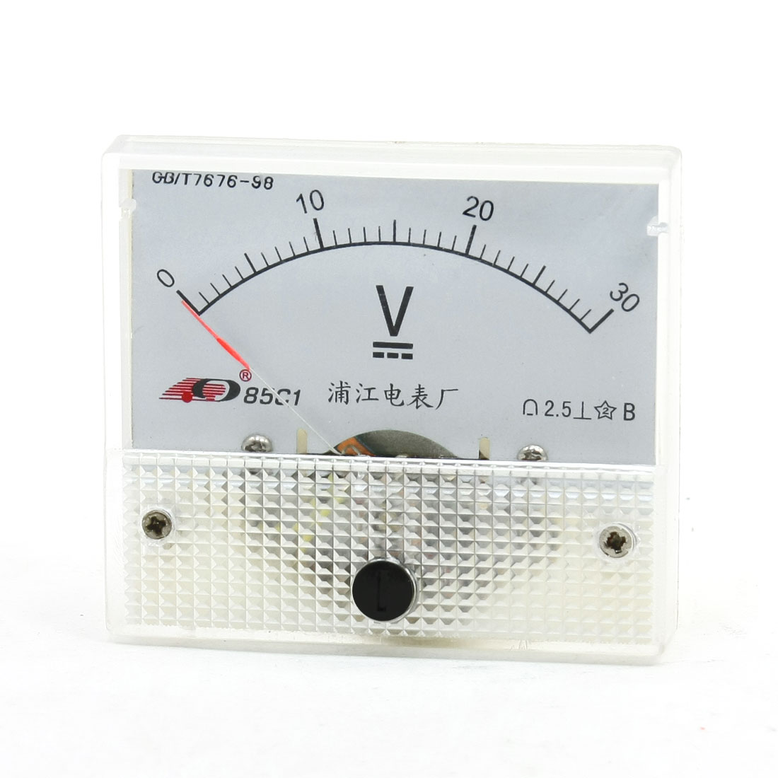 85C1 DC 0-30V 63mmx55mm Analog Needle Volt Voltage Panel Meter