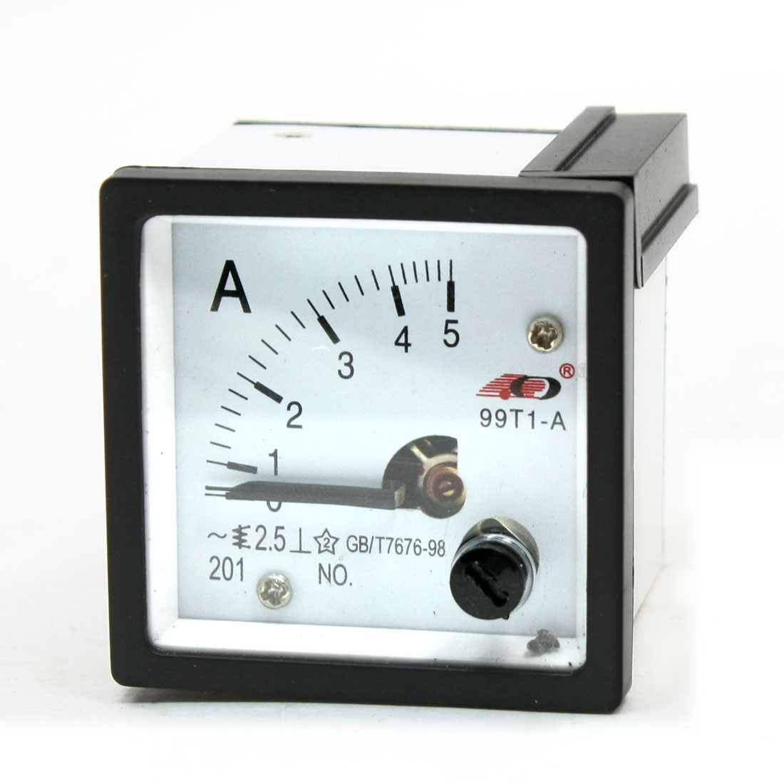 AC 0-5A Class 2.5 Square Panel Analog Meter Ammeter 99T1