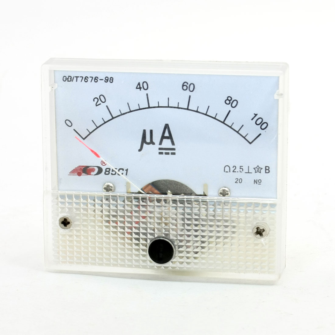 85C1 DC 0-100uA Analog Panel Meter Ammeter Gauge New