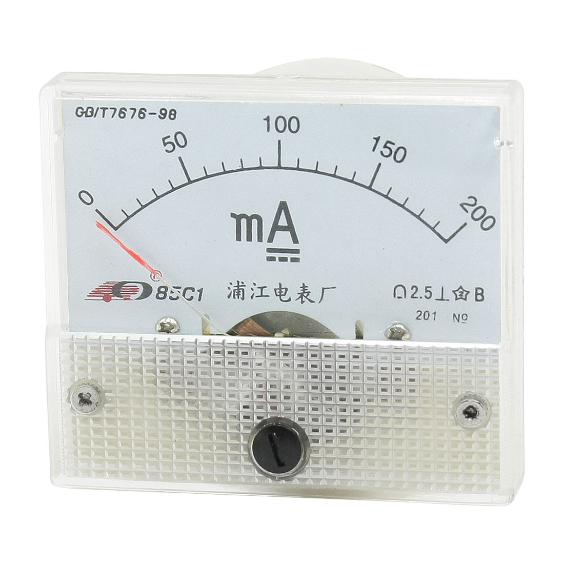 Class 2.5 Accuracy Analog Panel Meter DC 0-200mA 85C1