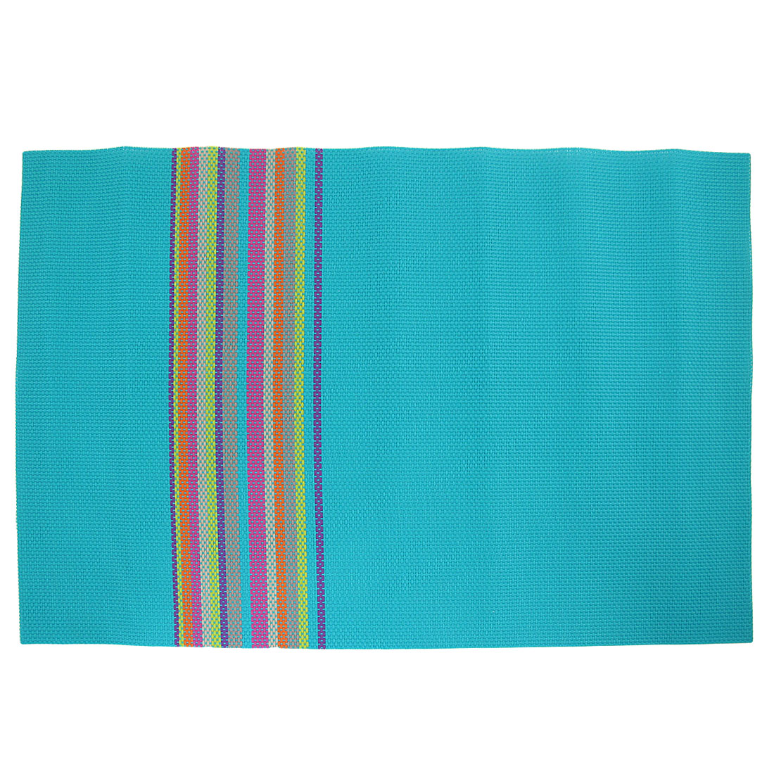 45 x 32cm Rectangle Soft Plastic Antislip Heat Resistant Mat Pad Turquoise