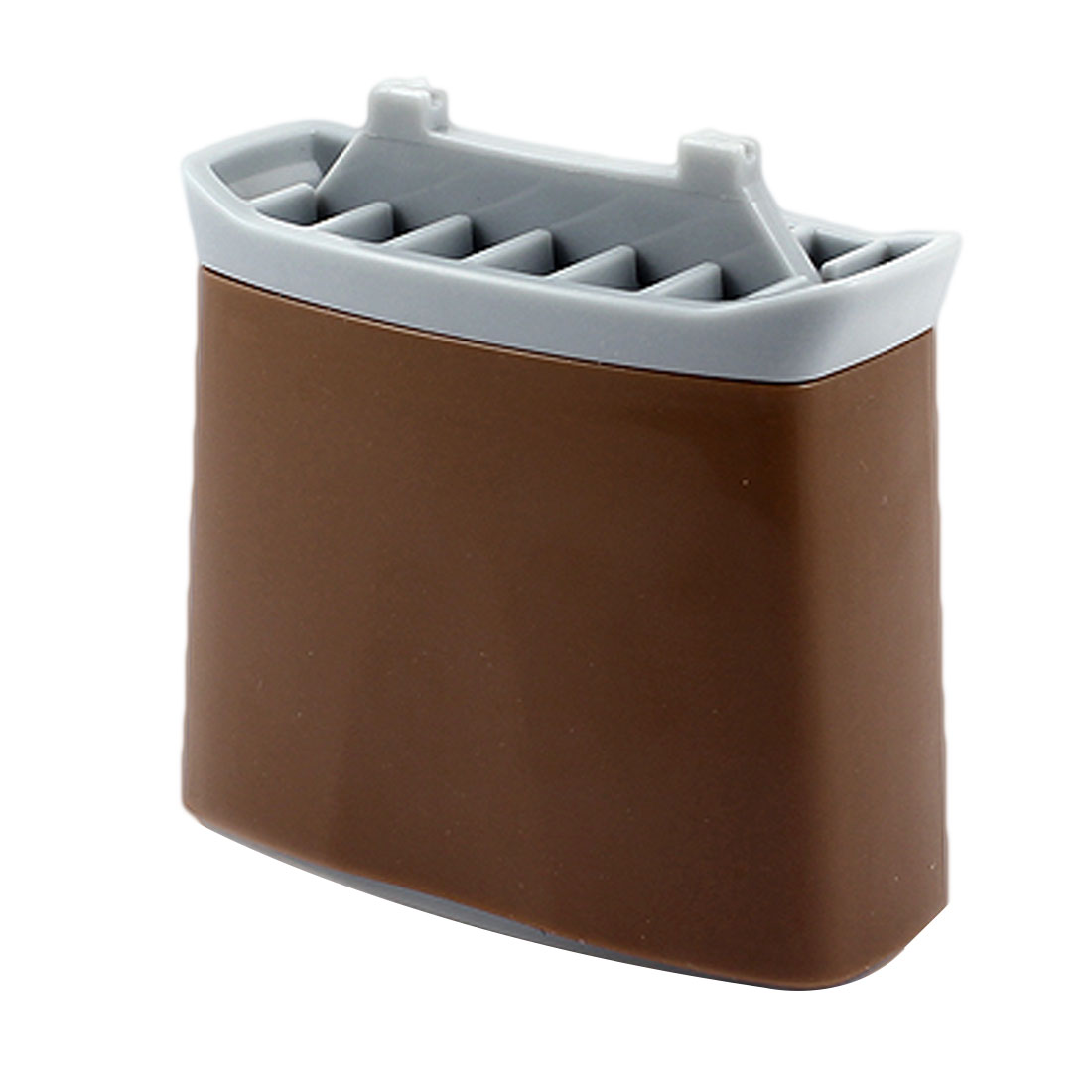 Coffee Color Building Shaped Automatic Toothpick Stand Holder
