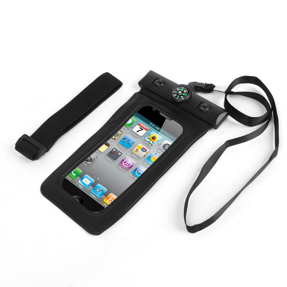 Black Compass Waterproof Protector Case Cover for Phone MP4