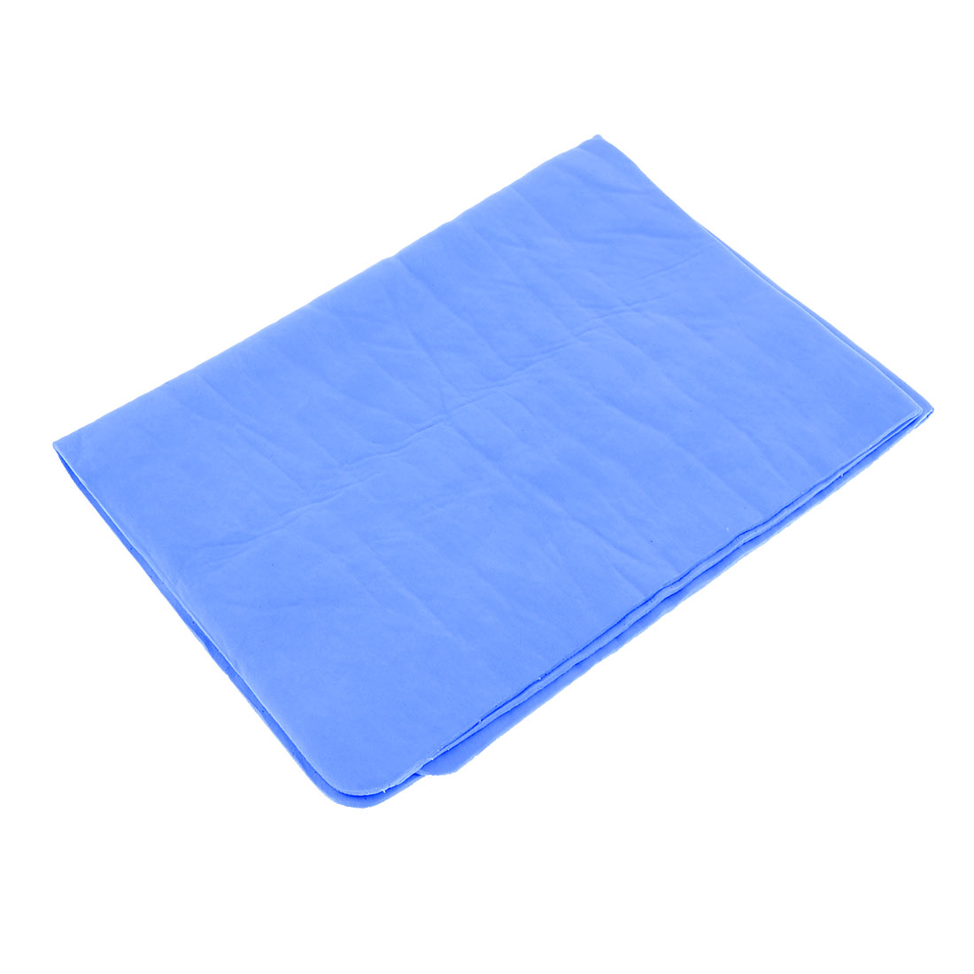 Car Auto Cleaning Tool 43cm x 32cm Synthetic Chamois Towel Cleaner Light Blue