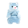 Kids Pale Blue Bear Shaped Zipper Closure Backpack Shoulder School Bag