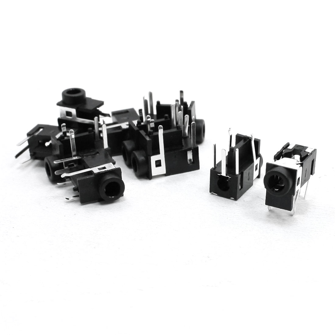 10 Pcs Media Player PCB Mounted 3.5mm Audio Jack Socket Connector Black