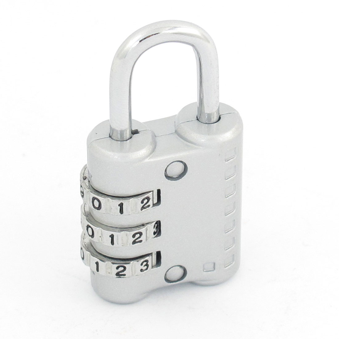 Silver Tone Metal 3 Dial Digit Combination Password Suitcase Code Lock Padlock