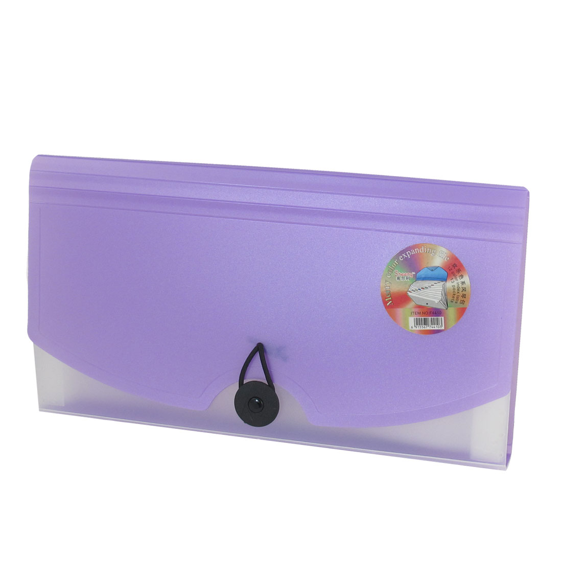 Portable Purple Plastic 13 Pockets Expanding File Holder Folder
