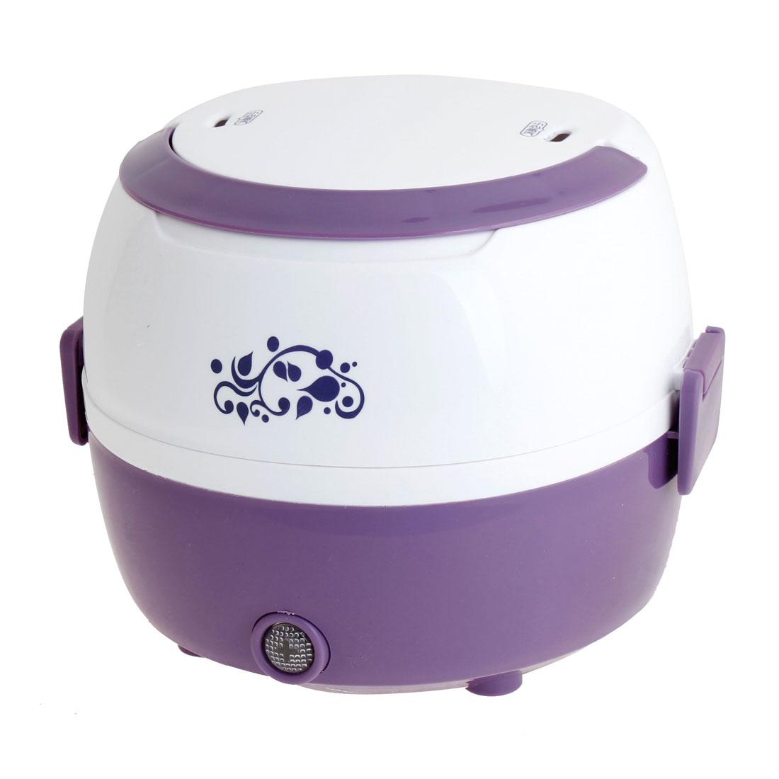 AU 3 Pin Plug AC 220V Rice Boiler Egg Steamer Electric Cooker Purple White