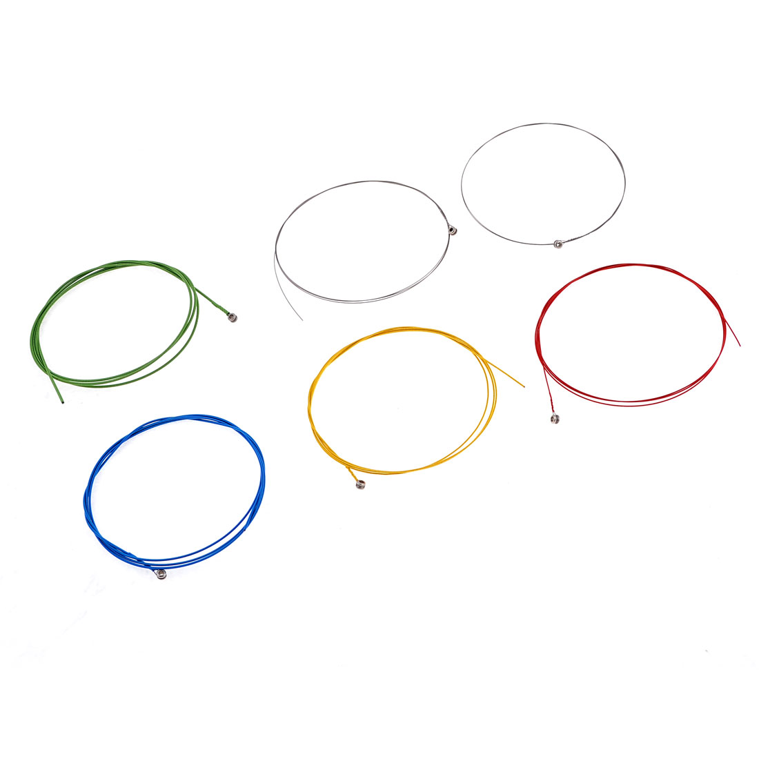 6PCS Assorted Colors Six Types Steel Musical Strings for Acoustic Guitar
