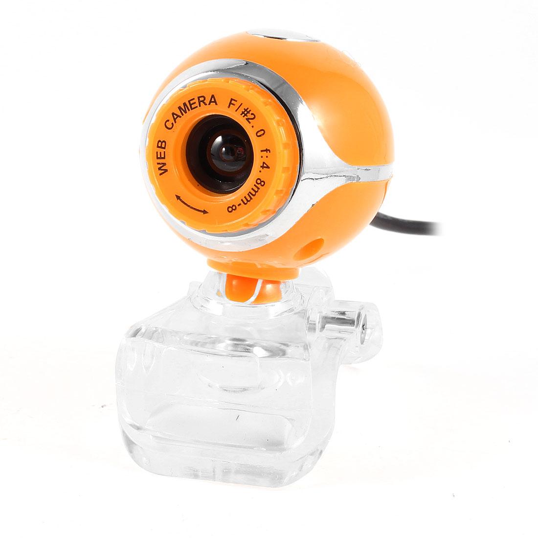 Clip on 1004x1004 1.3 Mega Pixels Camera USB2.0 Webcam Yellow