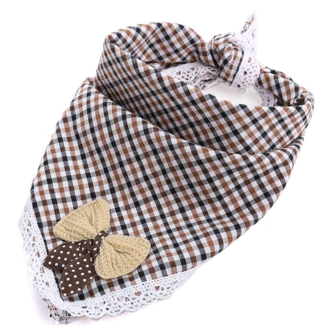 Baby Plaids Pattern Lovely Bowknot Lunch Dinner Square Napkin Multicolor