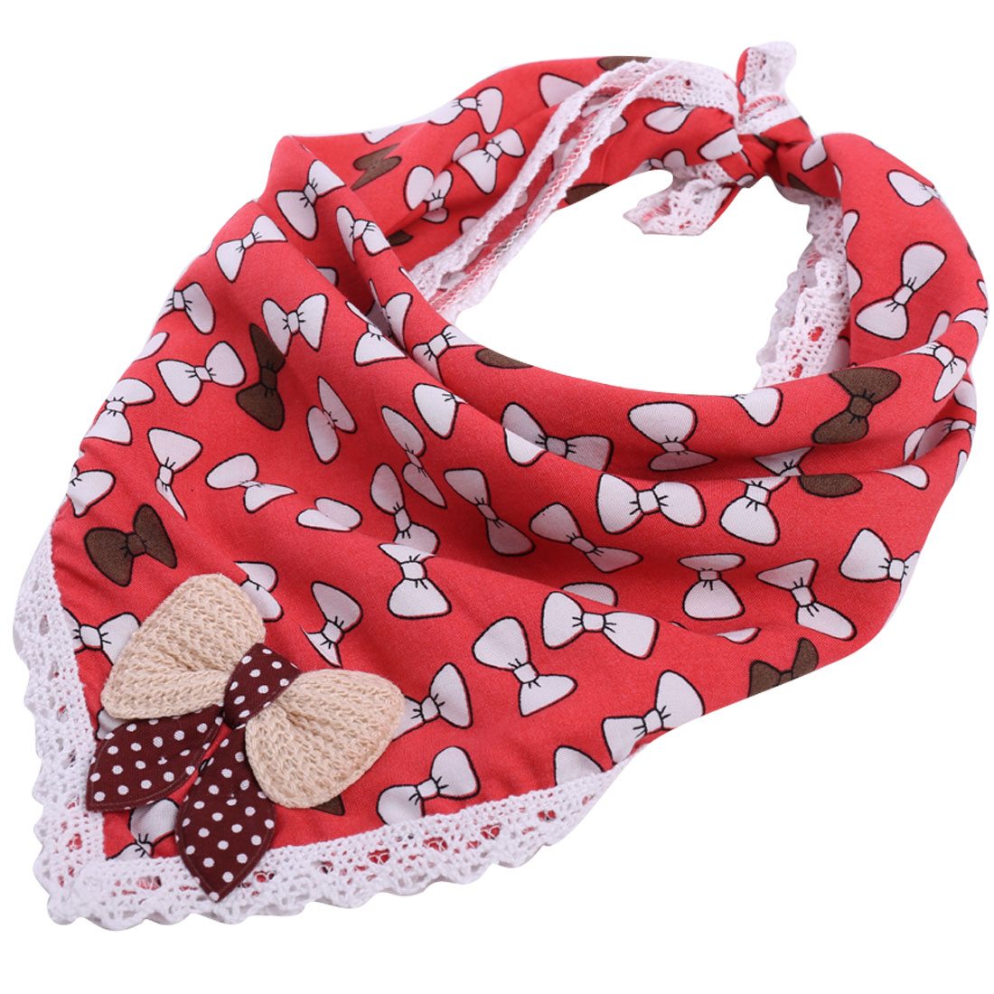 Lovely Bowtie Pattern Watermelon Red Square Napkins