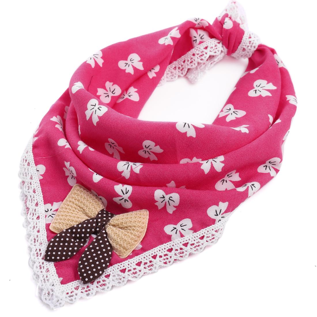Lovely Bowknots Pattern Sweet Square Napkin Fuchsia