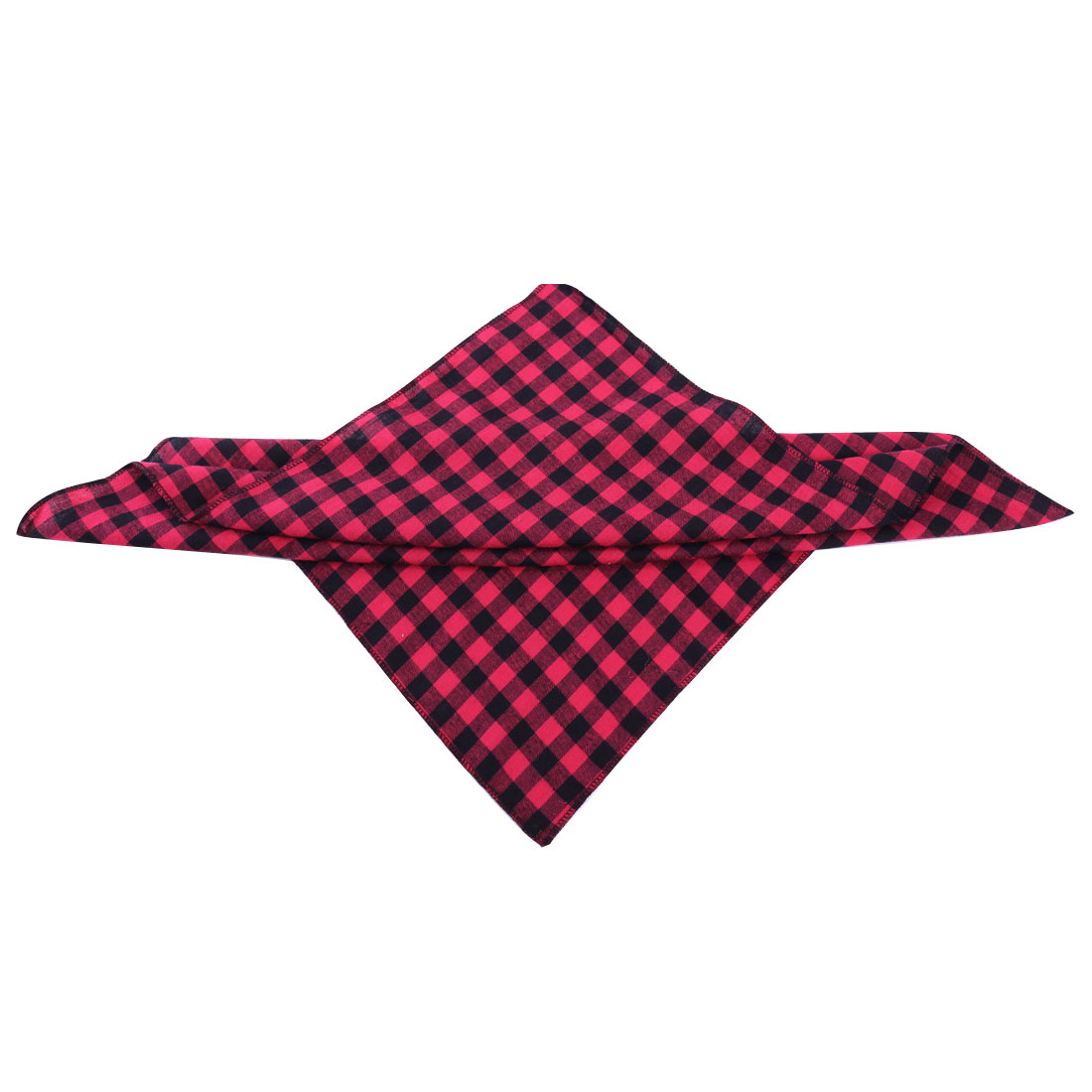 Pretty Burgundy Black Check Pattern Square Napkins for Kids