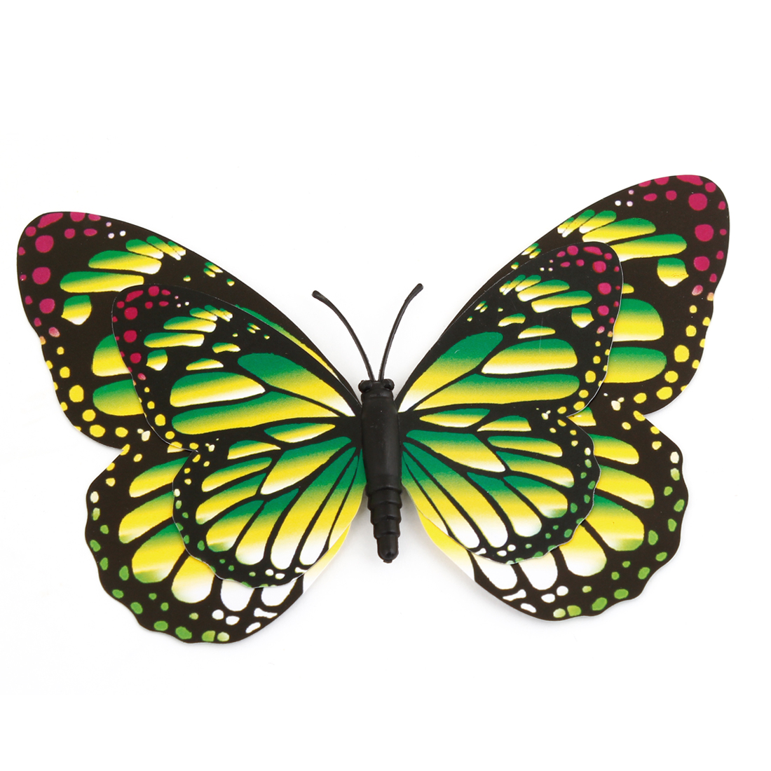 Fridge Refrigerator Surface Decor Butterfly Shaped Magnet Sticker Green Black