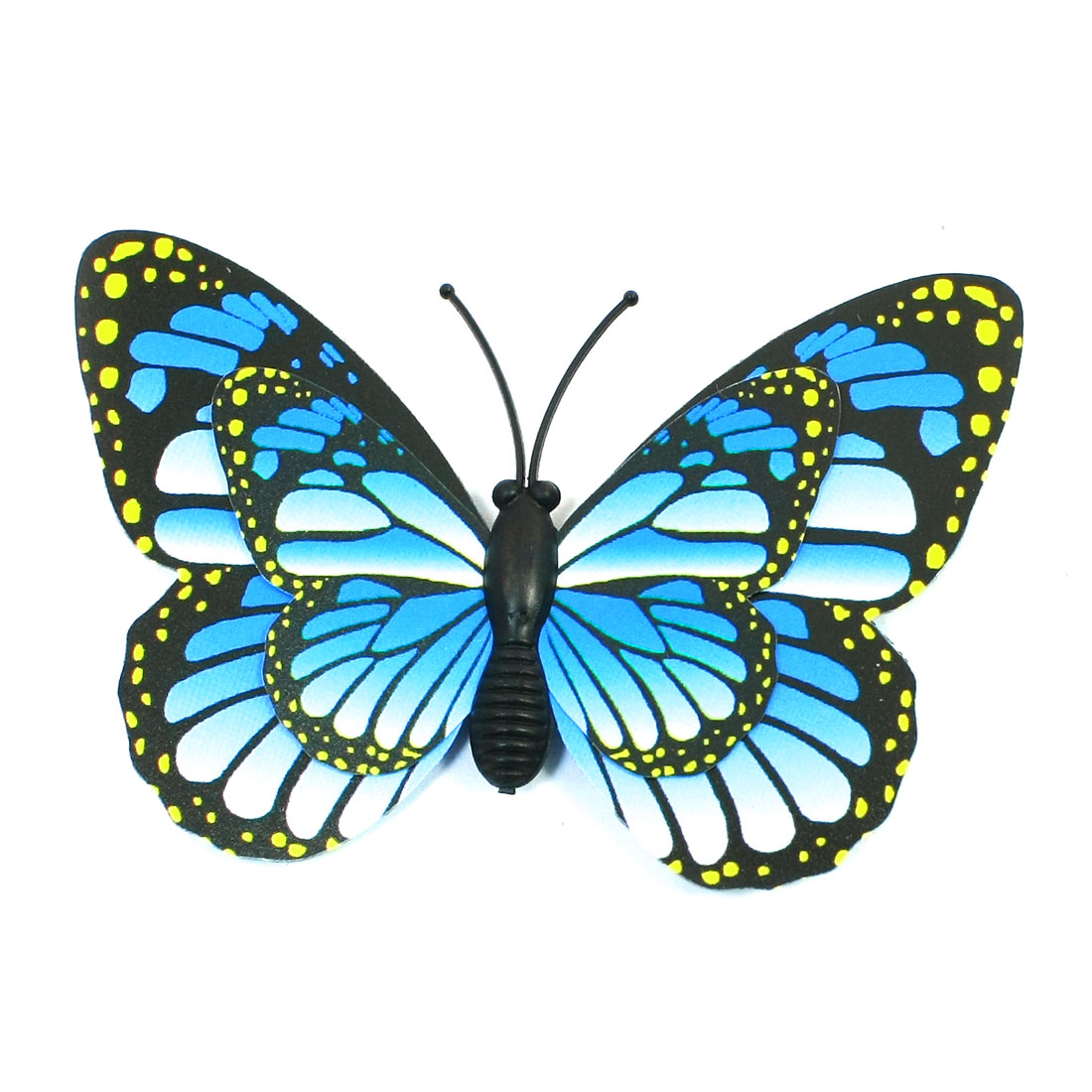 Plastic Blue Black Butterfly Magnetic Sticker for Home Refrigerator Decor