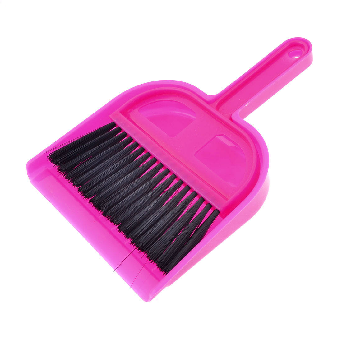 2 in 1 Fuchsia Plastic Nonslip Handle Mini Whisk Broom Brush Dustpan Set