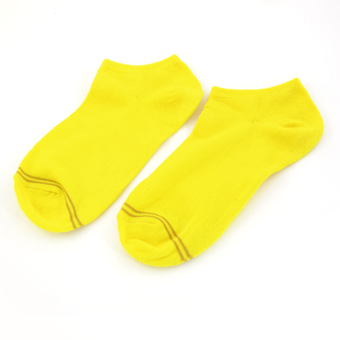 Pair Yellow Low Cut Ankle High Elastic Socks for Women