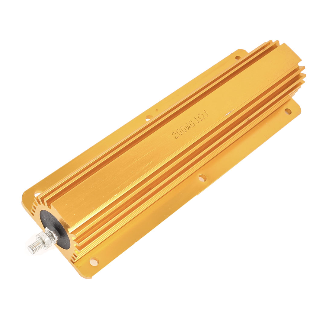 Gold Tone Aluminum Case Resistors 200W Power 0.1 Ohm 5%