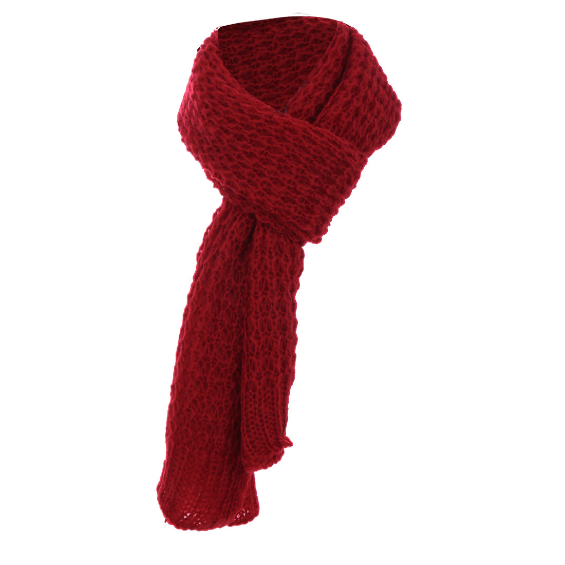 Fashion Scarves  Mens Fashion Winter Warm Knitted Soft Red Scarf Men's Knitted Winter Scarves