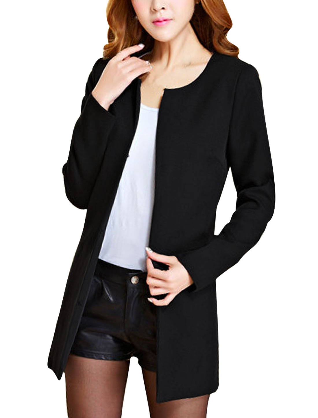Women Hook Eye Closure Long Sleeve NEW Blazer Black S