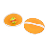 Soft 32 Suction Cups Sticky Ball Game Elastic Band 2 Round Bats Dark Yellow
