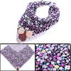 Sweet Bowtie Design Crochet Hem Light Purple Napkin