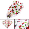 Babies Cartoon Ladybugs Crochet Hem Bowknot Decor Square Napkin White